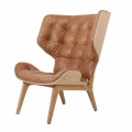 MAMMOTH Chair Fluffy Leather Camel - DECORTIS.COM
