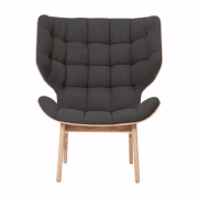 MAMMOTH Chair Fluffy Wool Dark Grey Fotel