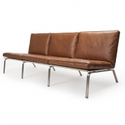 MAN Sofa Brown Leather Sofa 3 os.
