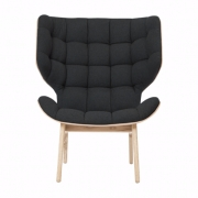MAMMOTH Chair Fluffy Wool Anthracite Fotel