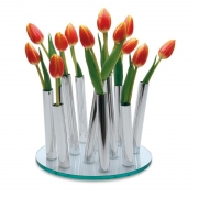 BOUQUET Chrome Vase Wazon D25