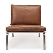 MAN Lounge Chair Brown Leather Fotel