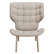 MAMMOTH Chair Fluffy Canvas Beige Fotel