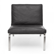 MAN Lounge Chair Black Leather Fotel