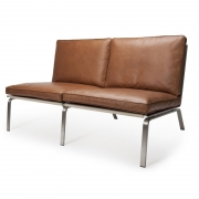 MAN Sofa Brown Leather Sofa 2 os.