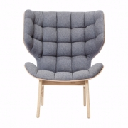 MAMMOTH Chair Fluffy Wool Stone Grey Fotel