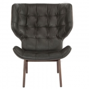 MAMMOTH Chair Fluffy Leather Anthracite Fotel