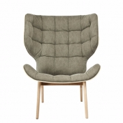 MAMMOTH Chair Fluffy Canvas Green Fotel