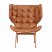 MAMMOTH Chair Fluffy Leather Cognac Fotel