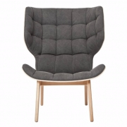 MAMMOTH Chair Fluffy Canvas Black Fotel