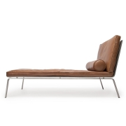 MAN Chaise Longue Brown Leather Szezlong