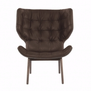 MAMMOTH Chair Fluffy Leather Brown Fotel