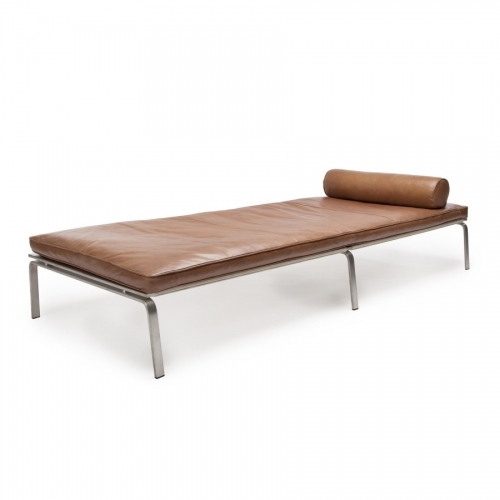 MAN Day Bed Brown Leather Leżanka
